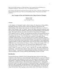 Key Concepts of Fate and Prediction in the Yijing - Chao Center for ...