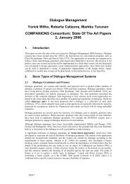 Mini State-of-the Art papers: Dialogue Management