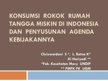 KONSUMSI ROKOK RUMAH TANGGA MISKIN DI INDONESIA DAN PENYUSUNAN ...