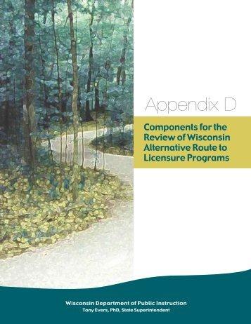 Appendix D - Teacher Education, Professional Development, and ...