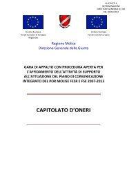 ALLEGATO 4: Capitolato d'Oneri - Ufficio Europa