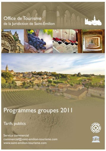 Brochure 2011 FR tarifs publics - Saint-Emilion
