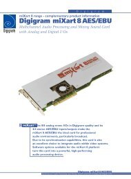 Digigram miXart 8 AES/EBU Multichannel Audio Processing and ...