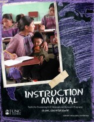 Evaluation Manual - Center for Global Initiatives - University of North ...