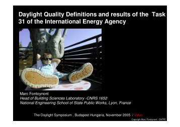 Daylight Quality Definitions and results of the ... - The Daylight Site