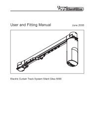 Silent Gliss 5090 User Guide - Curtain Poles