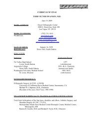 Curriculum vitae todd victor swanson, m.d. - Swanson Hip And Knee