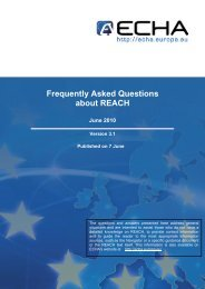 Frequently Asked Questions about REACH June ... - The Iron Platform