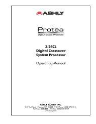 3.24CL Digital Crossover System Processor - J&H Licht en Geluid