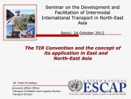 North-East Asia Forum on Trade and Transport Facilitation - TIR ...