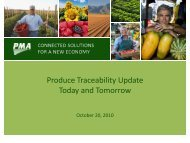 October 2010 - The Produce Traceability Initiative