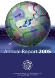 raport 01.indd - The International Institute of Molecular and Cell ...