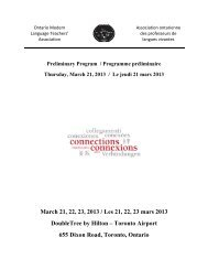 March 21, 22, 23, 2013 / Les 21, 22, 23 mars 2013 DoubleTree by ...
