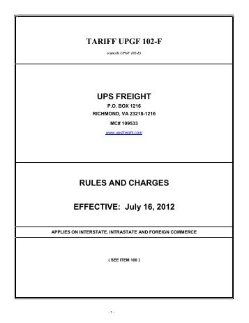 shipping order not - UPS Freight