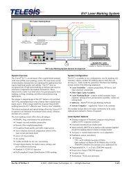 EV7 Laser Marking System - Telesis Technologies, Inc.