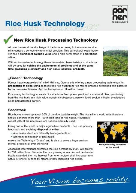 Rice Husk Technology Porner Group