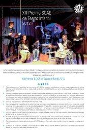 Premio SGAE Teatro Infantil - Fundación Autor