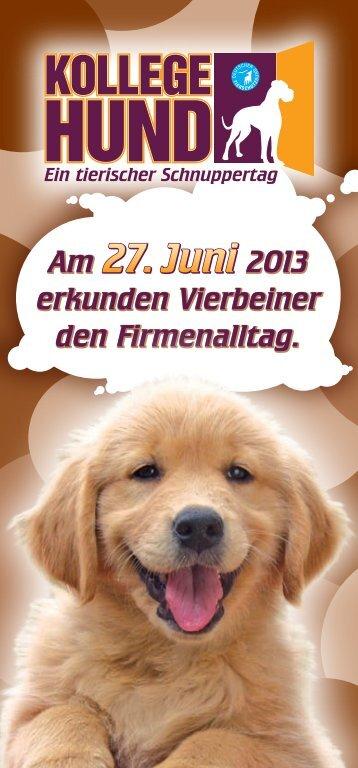 """Plakat """"Kollege Hund"""" - Deutscher Tierschutzbund"""