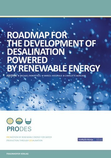 Roadmap foR the development of desalination poweRed by - ProDes