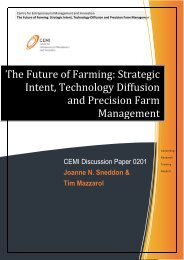 The Future of Farming: Strategic Intent, Technology Diffusion ... - CEMI
