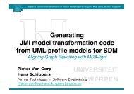 Generating JMI model transformation code from UML profile models ...
