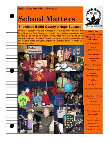 School Matters (October 2010) - Bullitt County Public Schools