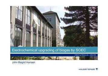 Electrochemical upgrading of biogas by SOEC - Energinet.dk