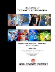 economy of the north river region - Arizona Western College