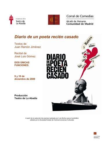 Diario de un poeta recién casado - Corral de Comedias