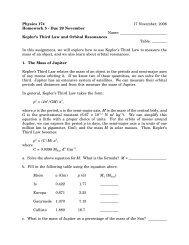 Physics 174 17 November, 2006 Homework 5 - Due 29 November ...