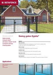 Swing gates Egidia® - Fagel