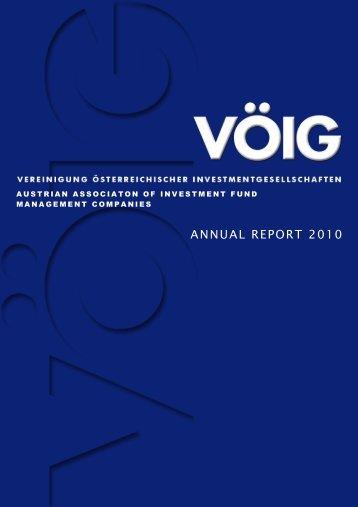ANNUAL REPORT 2010 - VÖIG