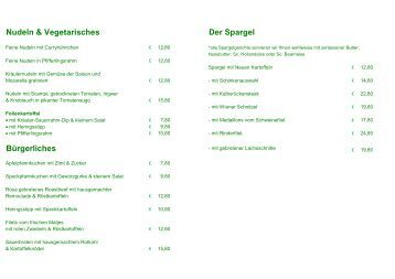Nudeln & Vegetarisches Der Spargel Bürgerliches