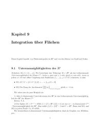 Kapitel 9 Integration über Flächen