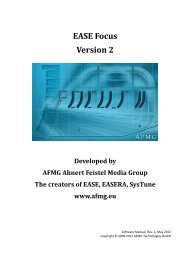 EASE Focus 2 User's Guide - NOVA by CRAAFT Audio