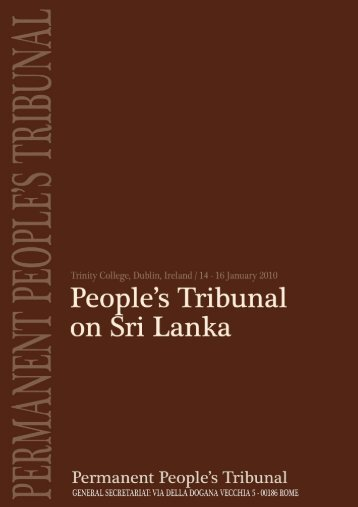 Dublin Tribunal Final Report - TamilNet