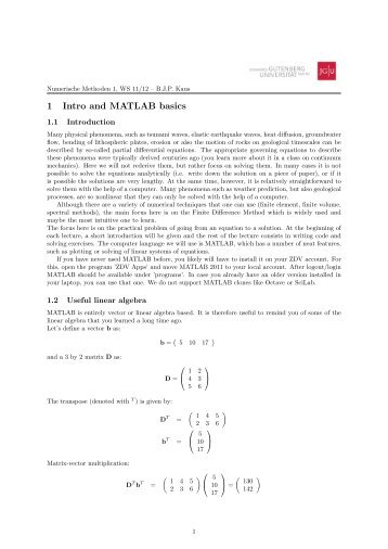 Introduction to MATLAB.