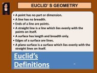 euclid' s geometry - Math with JM - home