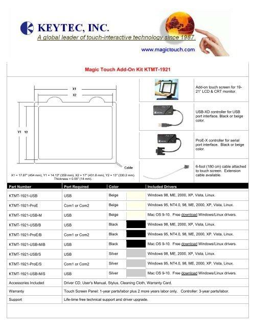 KEYTEC USB-XD TREIBER HERUNTERLADEN