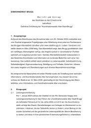 Koordinationsstelle Alter. Einwohnerratsvorlage - Brugg