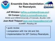 emble Data Assimilation for Historical Reanalysis