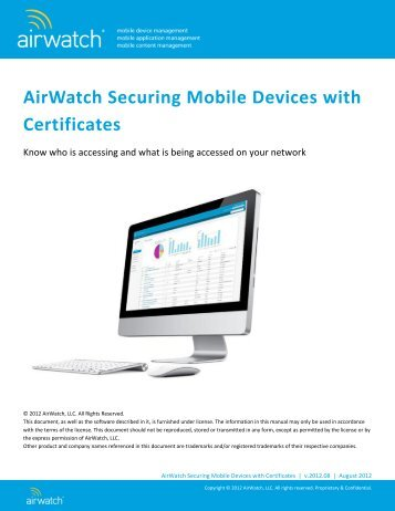 AirWatch Generating an APNs Certificate for MDM in v6.1 SP1 and ...