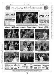 OMLUVA - Mariánskolázeňské listy