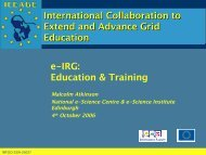 Education & Training - e-Infrastructure Reflection Group - e-IRG