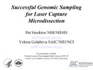Laser capture microdissection=molecular analysis of specific cells