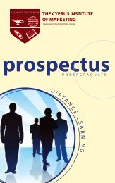 Undergraduate Prospectus - The Cyprus Institute of Marketing