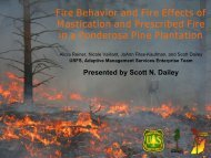 Fire Behavior and Fire Effects of Mastication and Prescribed Fire in a ...