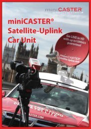 miniCASTER® Satellite-Uplink Car Unit - VIDELCO