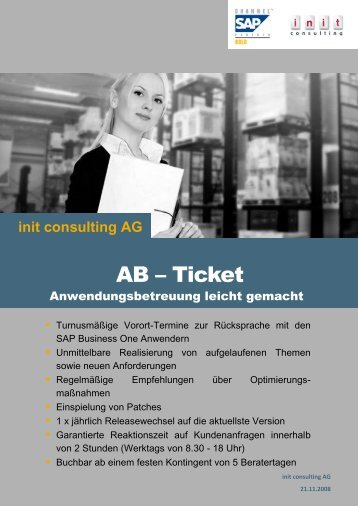 AB – Ticket - init consulting AG