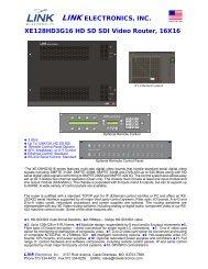 LINK ELECTRONICS, INC. XE128HD3G16 HD SD SDI Video ...